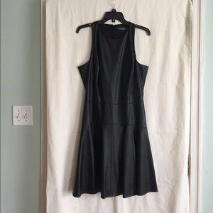 NWT Ralph Lauren black faux leather dress. 12
